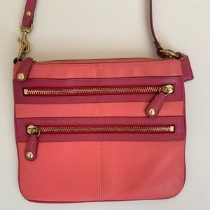 Coach Peach and Pink Crossbody